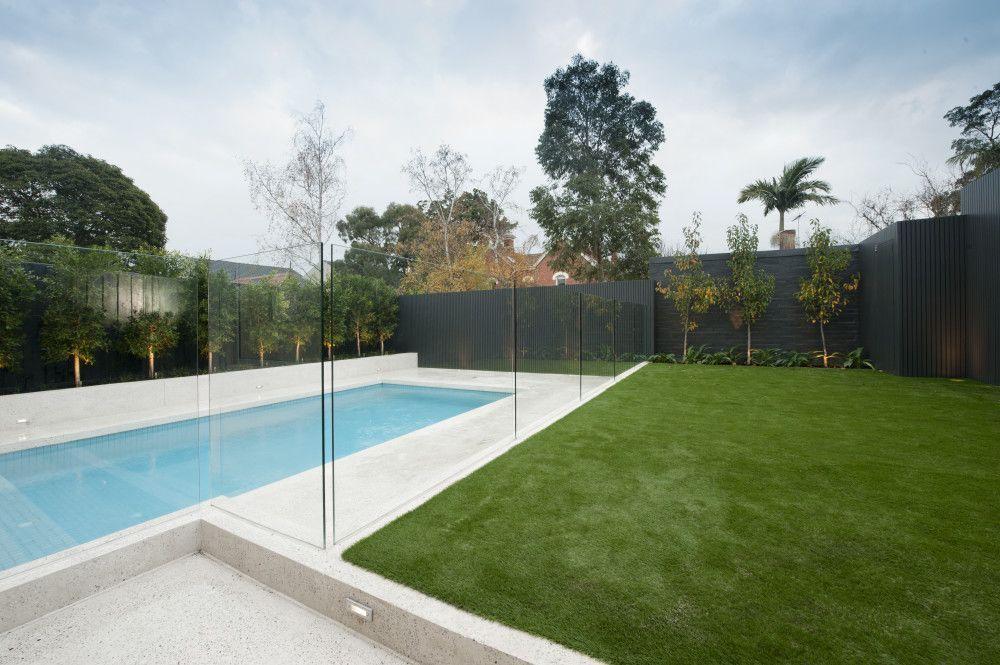 Pool Fence In Frameless Glass Melbourne Victoria Glass Pool Fencing Pool Fence Pool Landscaping