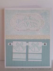 Patricia Manhire: CTMH Wedding Cards #D1631CurlicueFrames-ArtfullySent #D1539TheHappyCouple #StripeEmbossingFolder