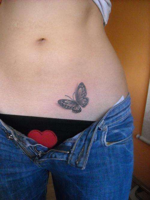 Papillon Bas Du Ventre Papillon Tatouage Tatouage Papillon Et