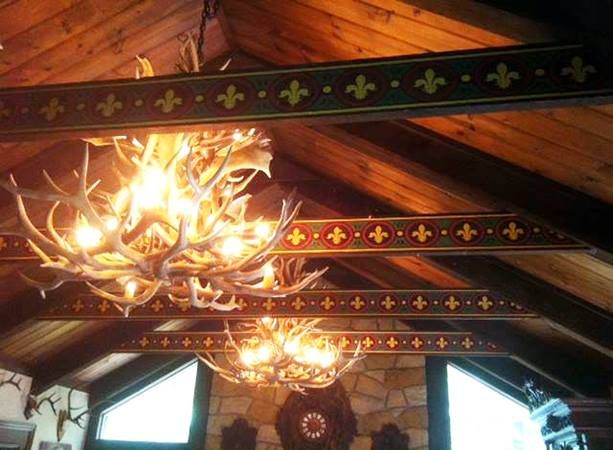 Stenciling On Wood Beams With Custom Modello Designs Masking