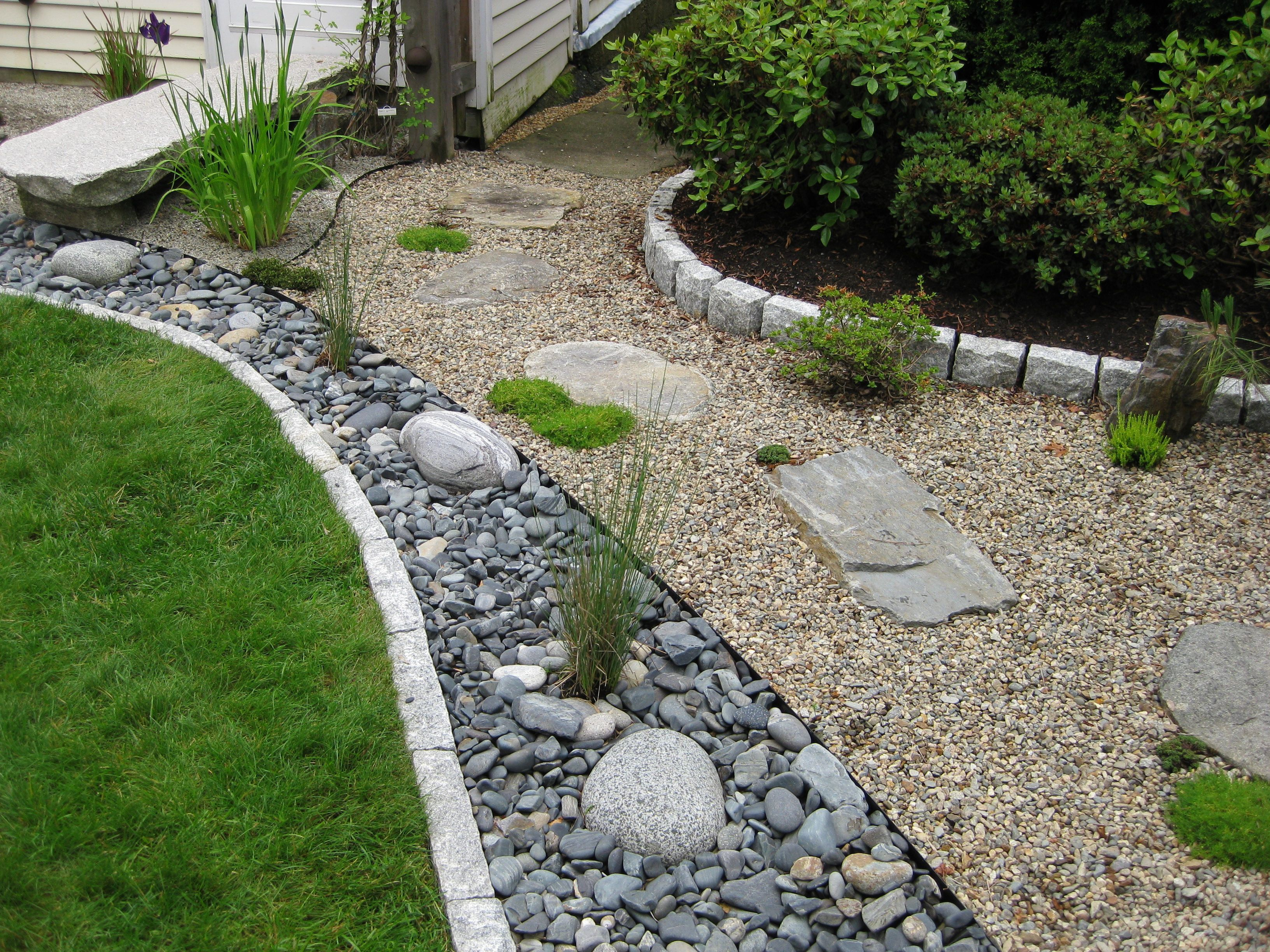 Garden Design Dry River Bed pocket garden tour | dry creek, dry creek bed and lawn