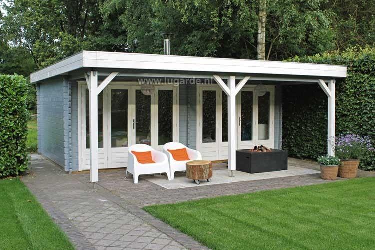 Tuinhuis veranda plat dak google zoeken achtertuin pinterest luifel tuinhuis en veranda - Garden summer houses with verandas ...