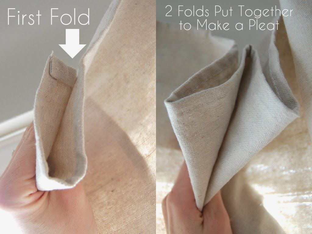 Drop Cloth Curtains- Easy, DIY, No Sewing #diycurtains