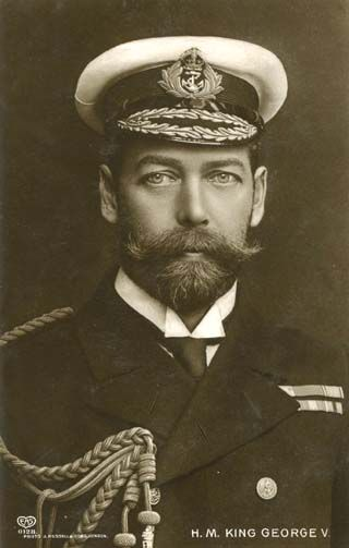 """King George V (1865-1936) - father of King George VI (1895-1952). One of the few men in history who can make that beard and moustache combination work (apart from Nicholas II who also looks great) and actually look wonderful in it."""
