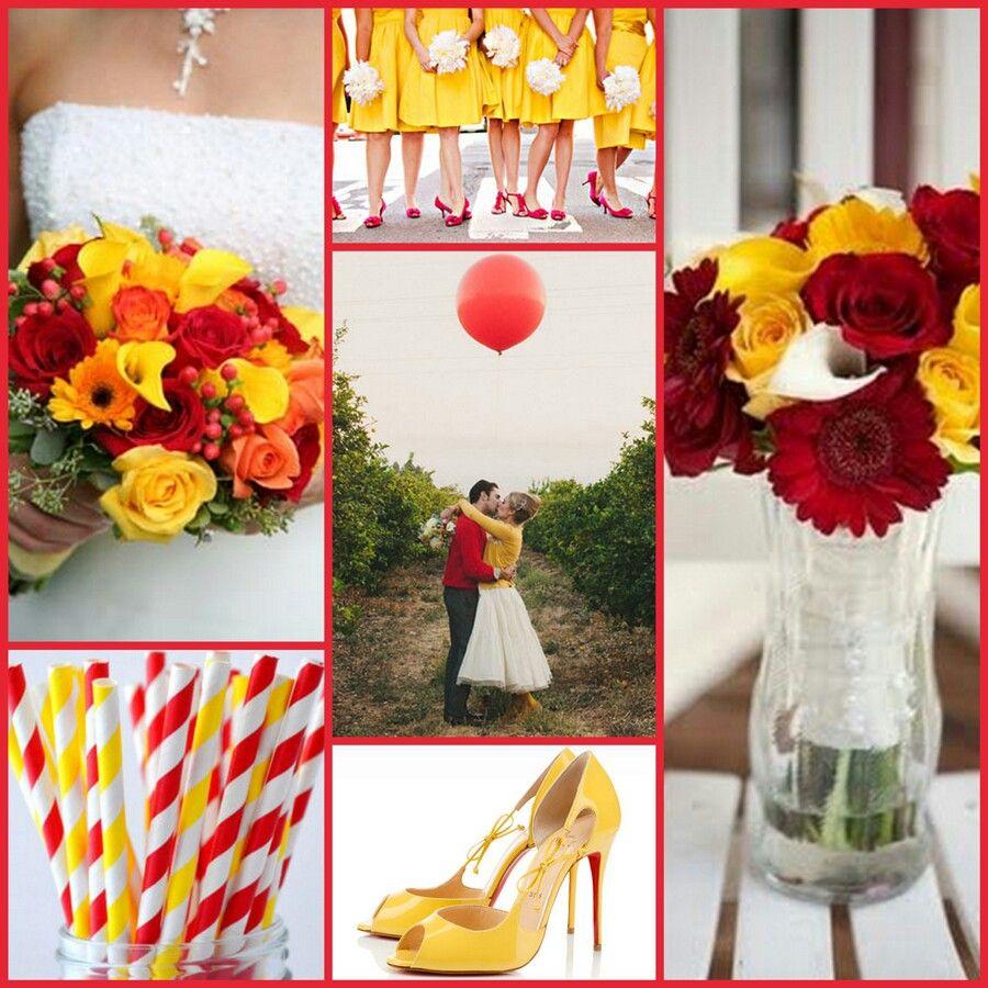 pinsonya on ~wedding decor~ | red yellow weddings