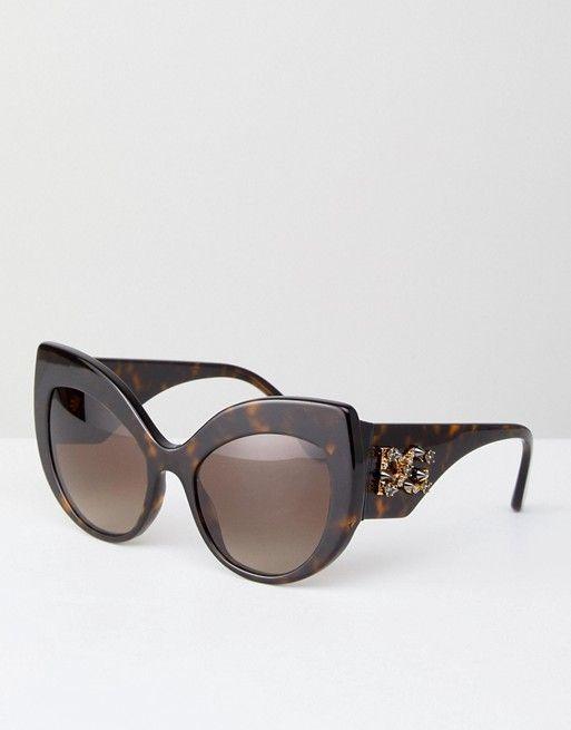 Gafas de sol con montura redonda de Dolce & Gabbana en 2018 ...