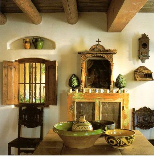 Hacienda Home Decor: Soft, Soothing Color Scheme For The Hacienda Dining Room