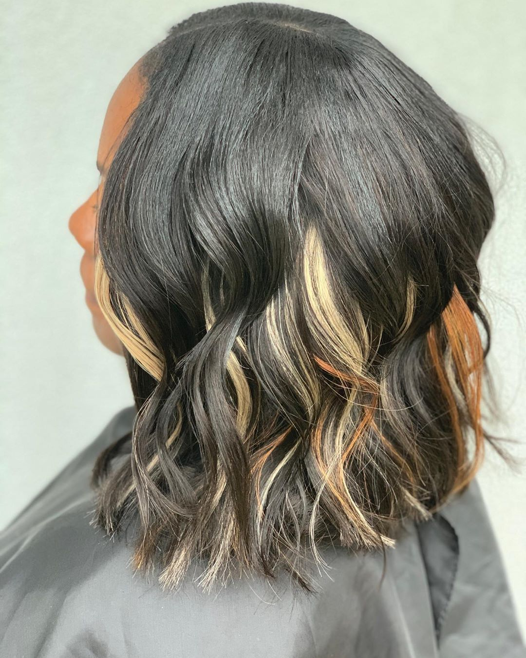 Come Thru Long Bob Quick Weave With Some Accent Pieces And Messy Beach Waves Hair Provides By Theartisanhairco Messy Beach Waves Hair Styles Long Bob