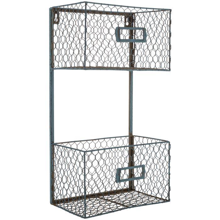 Get Blue Two-Tier Chicken Wire Shelf online or find other