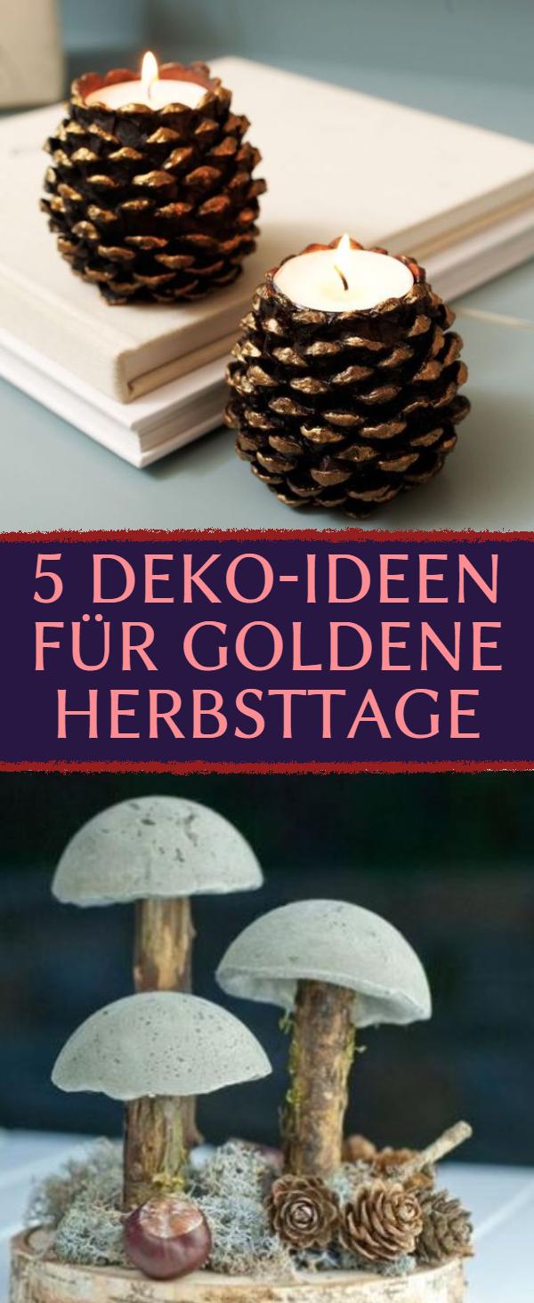 5 Deko-Ideen für goldene Herbsttage