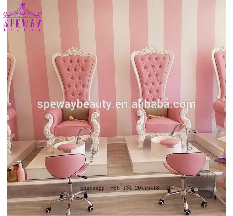 Lovely Baby Pink Spa Pedicure Chair Salon Kid Pedicure Spa Chair