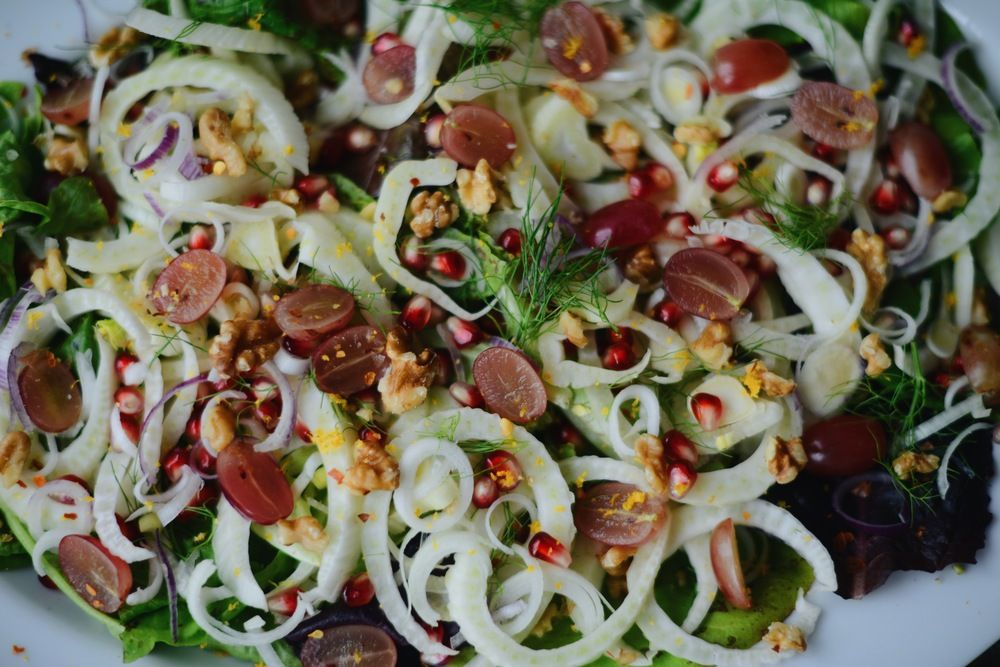 Fare Isle | Fennel Pomegranate Autumn Harvest Salad - Vegan + Gluten Free