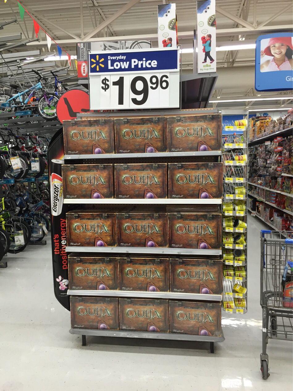 Looks like Walmart is getting into the holiday spirit #Ouija
