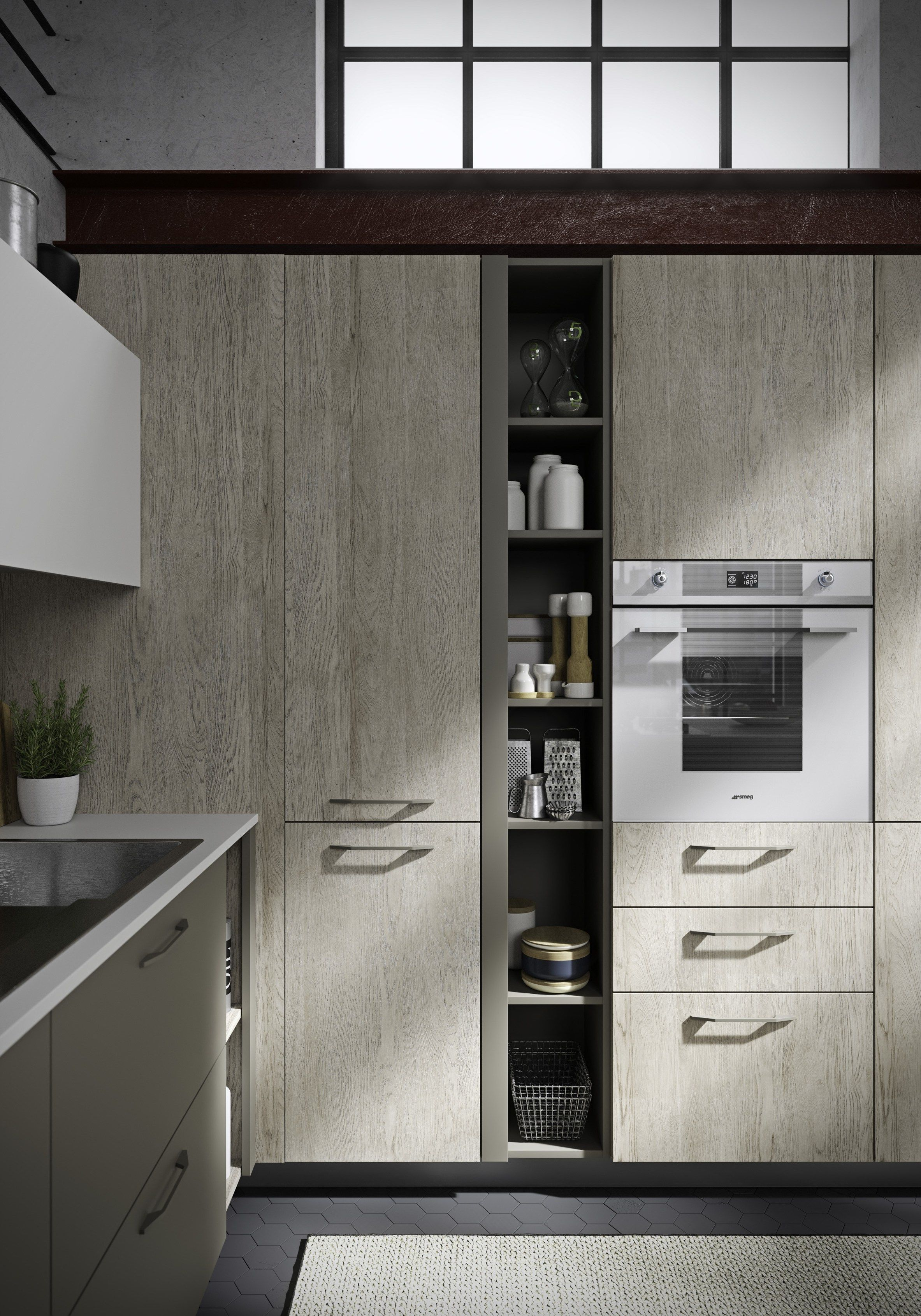 Cucina componibile con maniglie integrate FUN by Snaidero | Kitchens ...