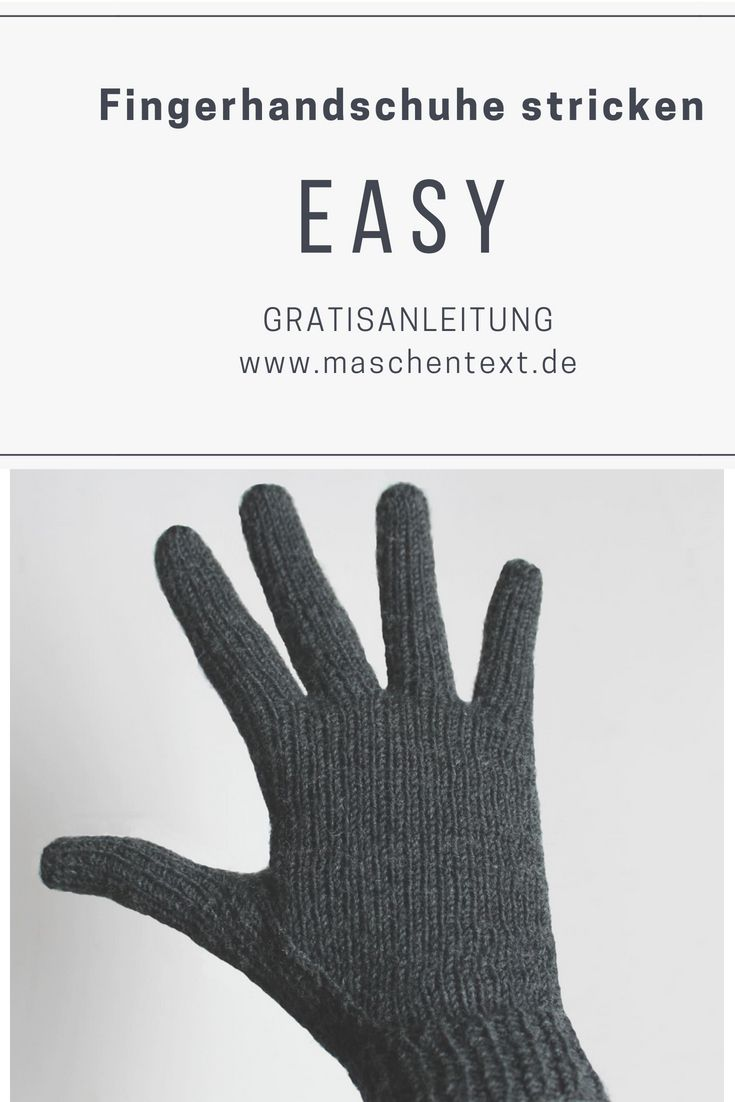 Photo of Strickanleitung: Easy Fingerhandschuhe