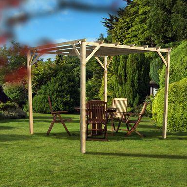Pergola Ogrodowa 300 X 300 X 250 Cm Drewniana Patricia Werth Holz Pergole W Atrakcyjnej Cenie W Sklepach Leroy Merli Garden Arch Pergola Outdoor Structures