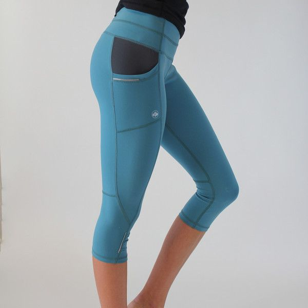 Pocket Capris Muted Blue Smooth And Comfortable Fabric