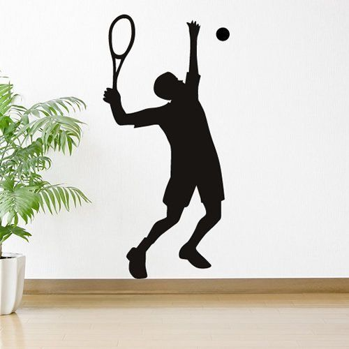 High Serve Tennis Wall Sticker Sport Wall Decal Art available in 5 Sizes and 25 Colours by IconWallStickers //.amazon.co.uk/dp/B00IH289U6/refu003d ...  sc 1 st  Pinterest & High Serve Tennis Wall Sticker Sport Wall Decal Art available in 5 ...