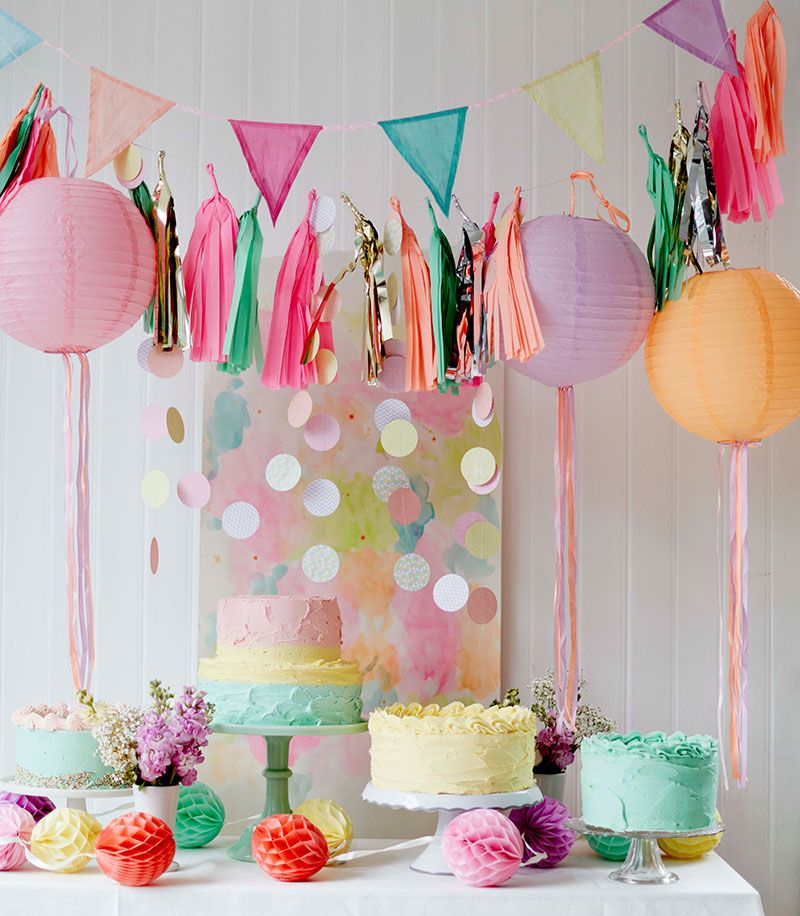 6 pretty outdoor party decorating ideas Paper lanterns, Buntings