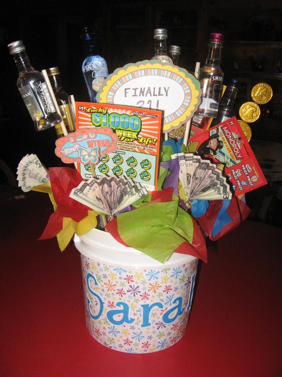 21st Birthday Gift Bucket Fun To Make And Easy Do
