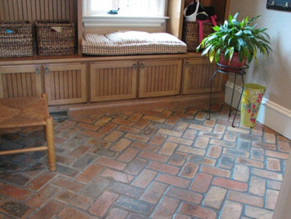 Like the pattern of the floor as well as the cabinets 8 house like the pattern of the floor as well as the cabinets brick kitchen floorsbrick tile floorbrick paversbasement dailygadgetfo Images