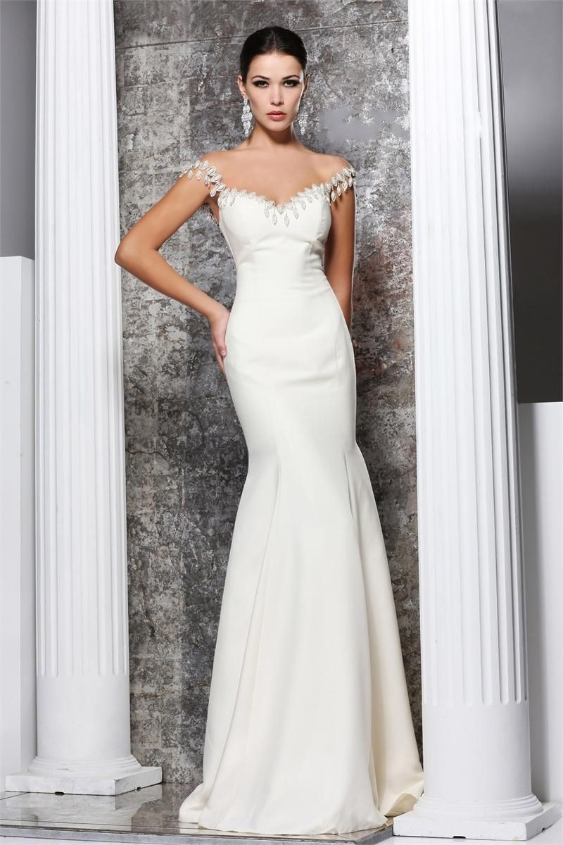 17 Best images about White Formal Dress on Pinterest | Beaded ...