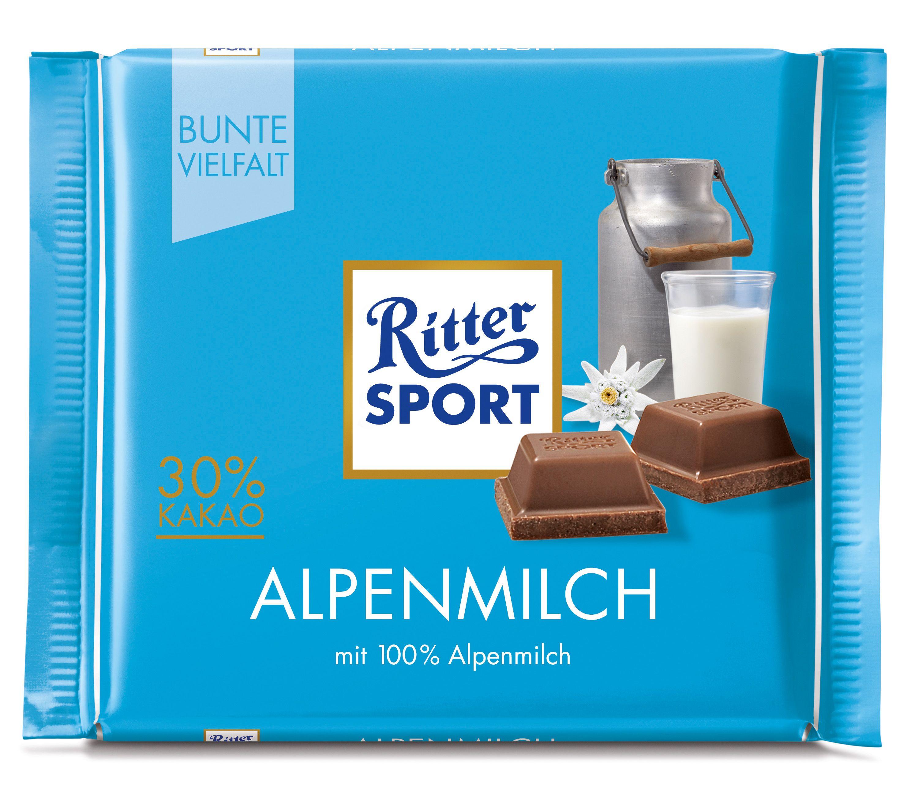 RITTER SPORT Alpenmilch Alpes