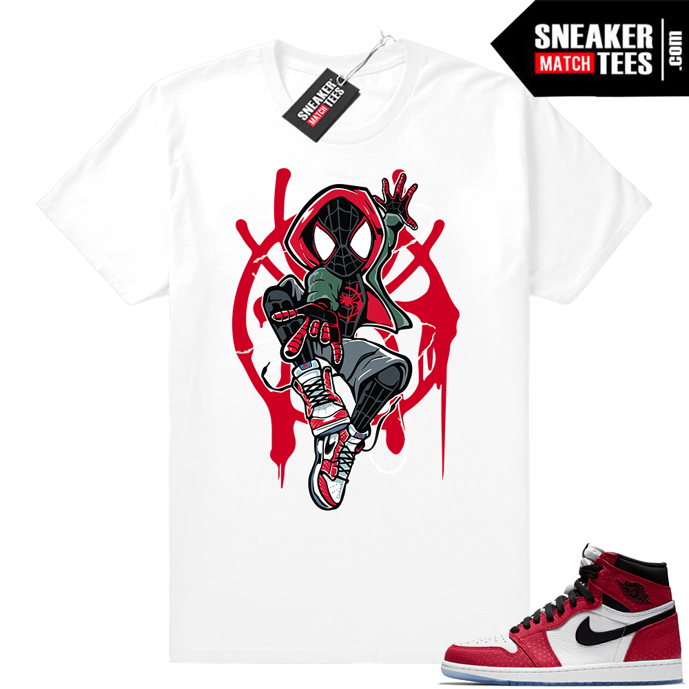 purchase cheap cee0c 2ad29 Jordan 1 Spider-man white t-shirt