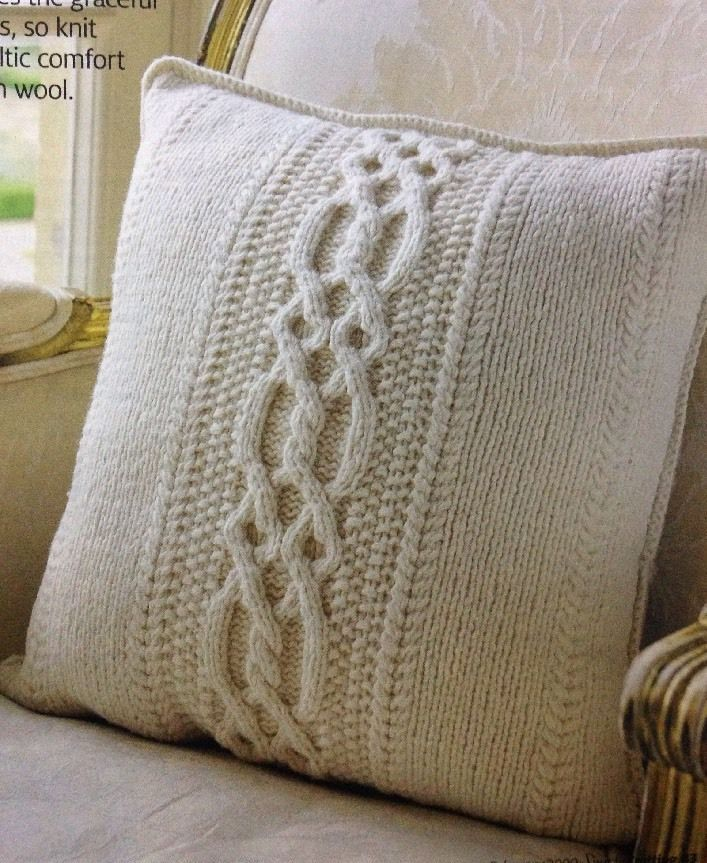 Celtic Cabled Cushion Cover Aran KNITTING PATTERN | eBay ...