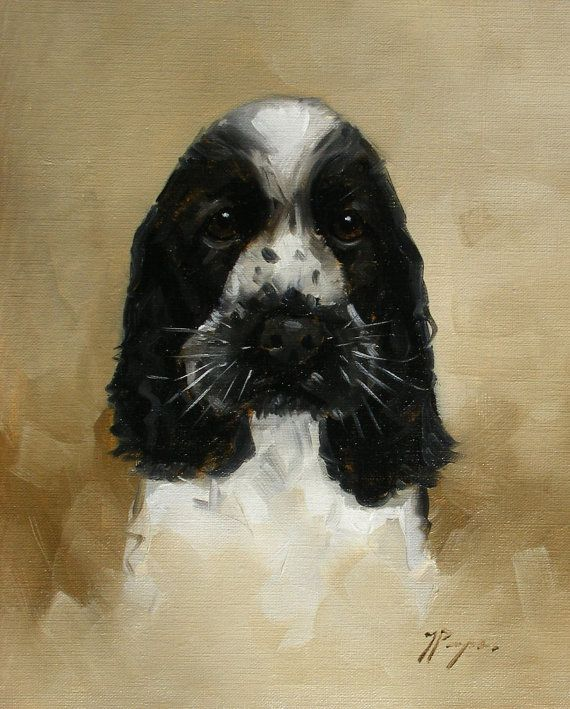 I Bought This Original Oil Painting Of A Cocker Spaniel Dog By By