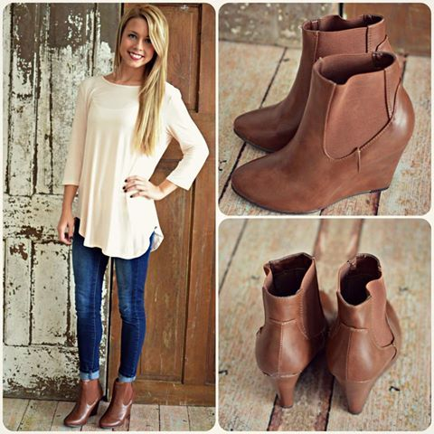 cute outfits with dark brown bootie - Google Search