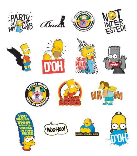 Simson With Images Sticker Set Stickers Sticker Sheets