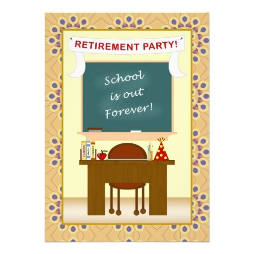 Teacher retirement double sided personalized party invitation retirement invitations 3600 retirement announcements invites stopboris Gallery