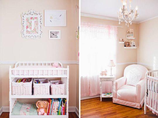 Rom ntica habitaci n para beb ni a decoraci n beb s - Decoracion cuarto bebe ...