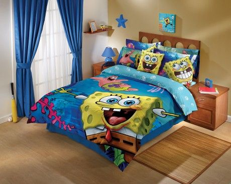 The Spongebob Comforter Set Is Ideal For Any Boyu0027s Room.