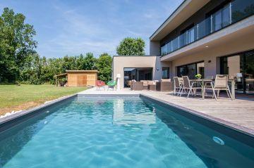 Photo piscine contemporaine - Brabant Wallon - Belgique ...
