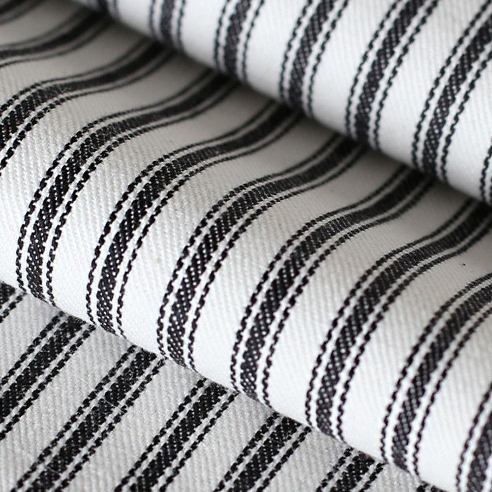 black and white ticking fabric