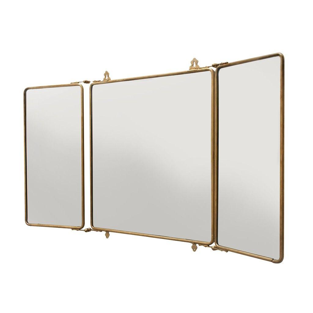 """daphne metal rectangular wall mounted trifold mirror 42 3/8"""" x 26, Badezimmer ideen"""