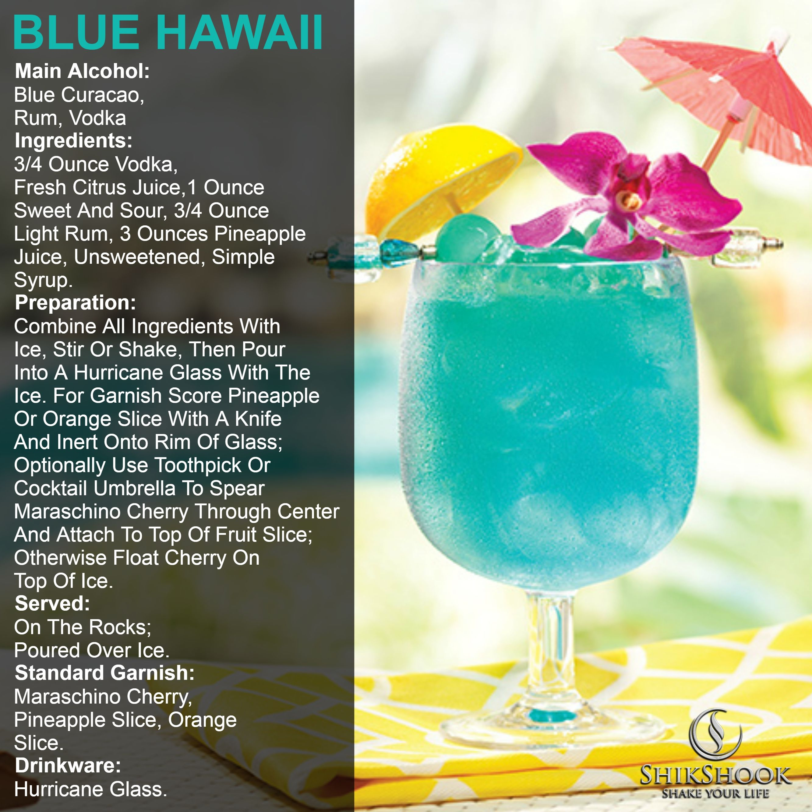 Blue Hawaii Cocktail Main Alcohol Blue Curacao Rum Vodka Ingredients 3 4 Ounce Vodka Pineapple Juice Recipes Cocktail Juice Pineapple Juice