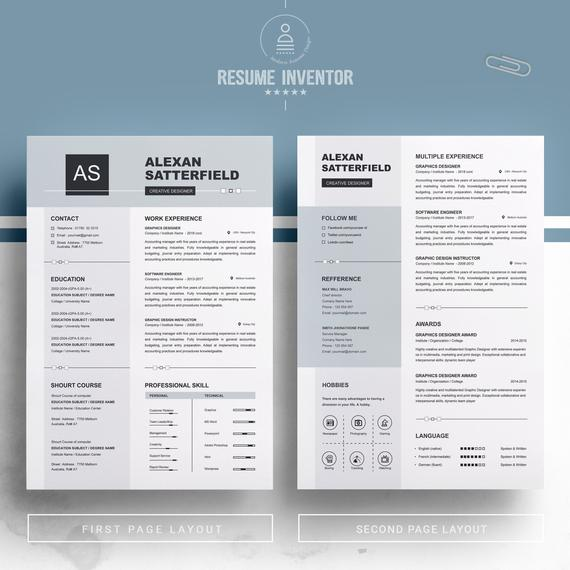 Apple Pages Resume Template Curriculum Vita Ms Word Resume Cv