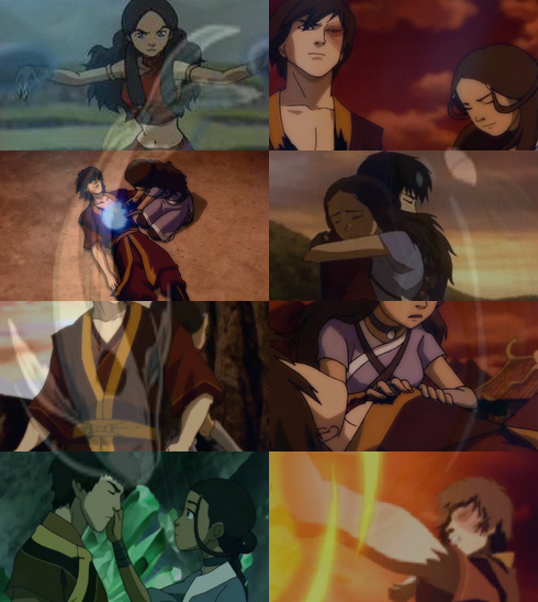 "Avatar Aang With Hair: ""Endless List Of Ships ↳ Zuko/Katara"