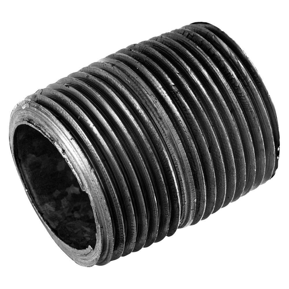 Ldr Industries Pipe Decor 1 2 In Close Black Iron Pipe Connector