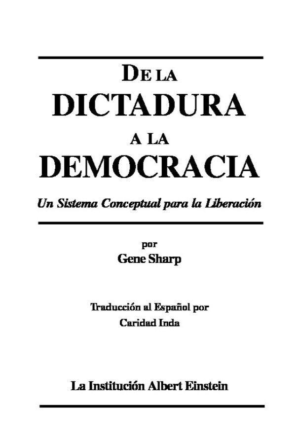 Gene Sharp, nos muestra en su libro casi 200 métodos para llevar acabo una revolución, los cuales han sido llevado a cabo en varios países del mundo y se han mostrado efectivos para pasar de una dictadura a una falsa democracia, ahora lo debemos usar para pasar de la falsa democracia (dictadura) a la democracia directa y radical.