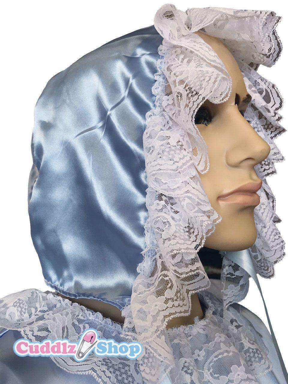 Blue Satin Sissy Bonnet in 2019 | ABDL Cuddlz Sissy Clothing ...