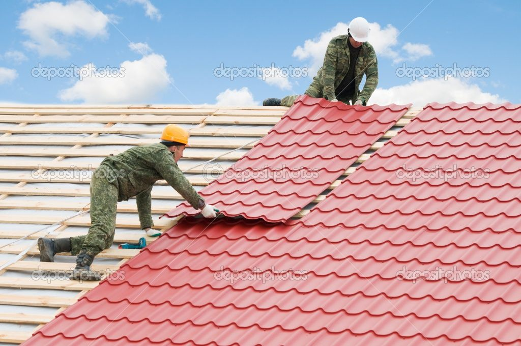 Roofing Work With Metal Tile Roof Restoration Plastic Roof Tiles Cool Roof