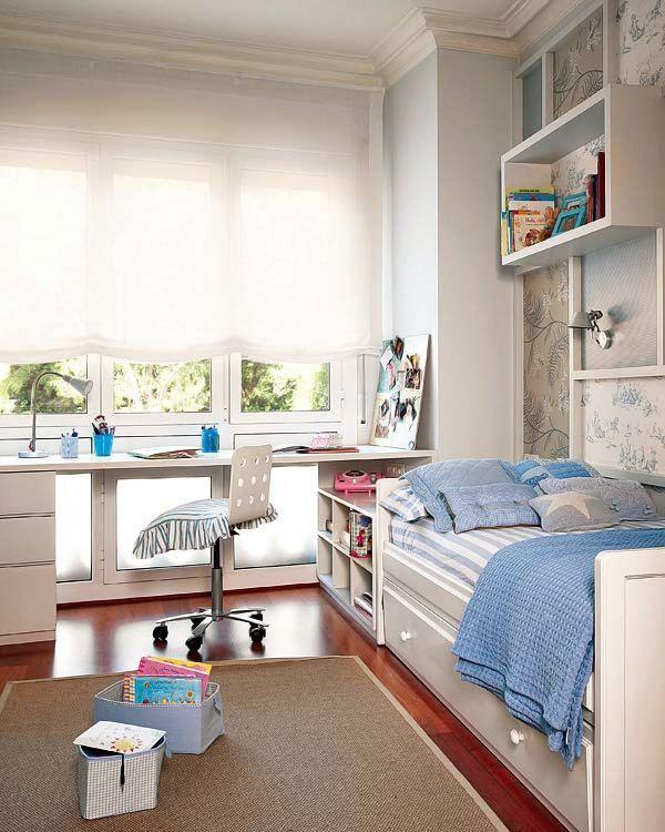 MICASA Dormitorio en azul y blanco Todo un clasico 2 #homedecor #decoration #decoración #interiores