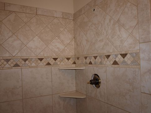 diagonal bathroom tile diagonal tile bathtub 12x12 tile with marble accent and 12684