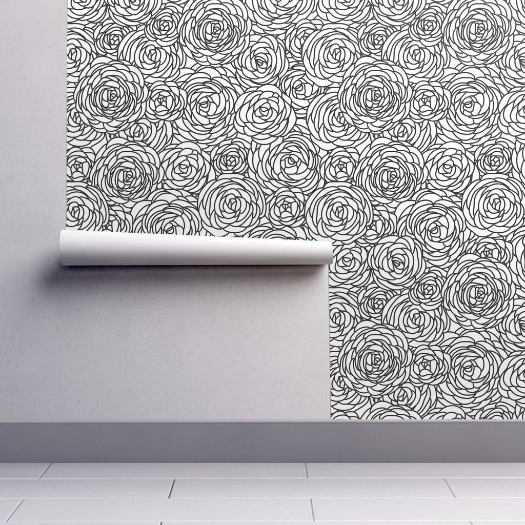 Roses Wallpaper Tribal Inspired Seamless Geometric By Etsy Tribal Patterns Wallpaper Roll Tribal Triangles