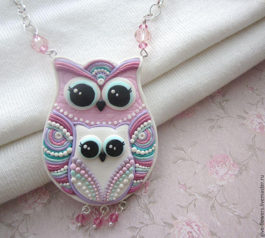 Сова с совёнком - подвеска Owl