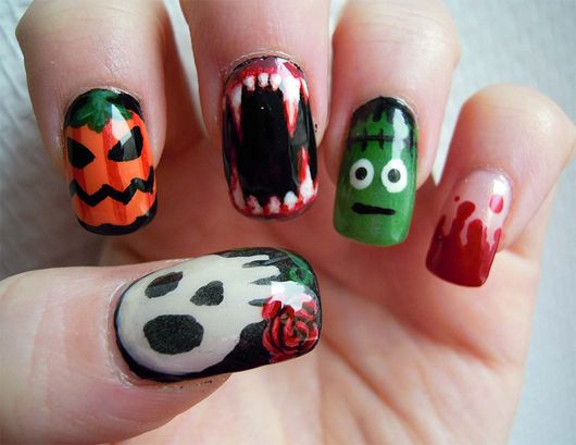 Halloween nail designs pictures great nail art design pinterest diy halloween nail art designs are in 7 easy spooky designs with step by step you could be pick up this idea one of the many holiday polishes out there solutioingenieria Choice Image